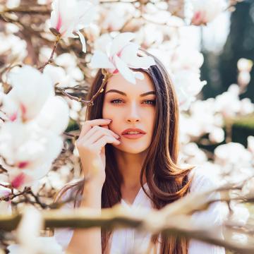Frühlingsgesichtsbehandlung